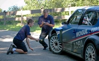 Test na Barum Czech Rally Zlín 2011