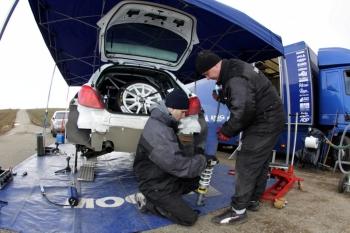 Testování před SHERON Valašskou Rally 2010